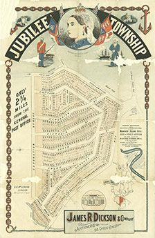 Poster Estate Map - Jubilee Township Bardon Brisbane 1887