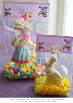 Chocolate Bunny Edible Craft & Free Printable #Easter Tags by LivingLocurto.com
