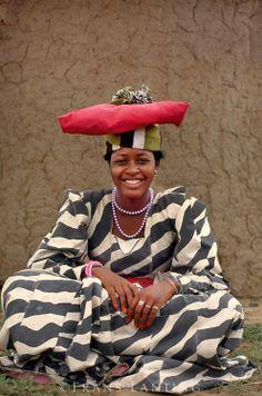 Frans Lanting:  Herrero woman, Okavango Delta, Botswana
