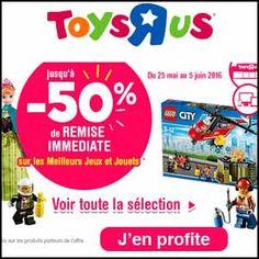 #missbonreduction; Promos à gogo: jusqu'à 50% de remise immédiate sur les meilleurs jeux et jouets chez Toysrus. http://www.miss-bon-reduction.fr//details-bon-reduction-Toysrus-i852715-c1833621.html