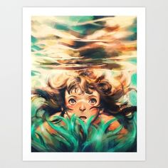 The River Art Print by Alice X. Zhang - $15.00