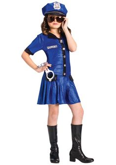 kids police costumes for girls ten and up | Girls Rookie Cop Costume - Girls Police, Cop Halloween Costumes