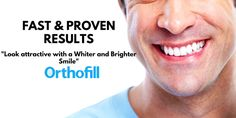A smile is a curve that sets everything straight. Orthofill is the best for you. #howtofixteethgap