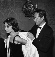 Audrey Hepburn and Mel Ferrer premiere War and Peace