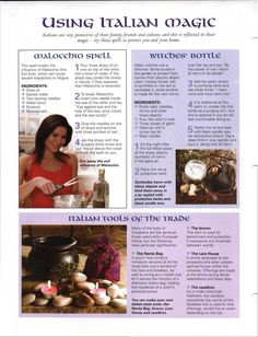 Mind, Body, Spirit Collection - Using Italian Magic Wiccan Witch, Wicca Witchcraft, Traditional Witchcraft, Eclectic Witch, White Witch, Practical Magic, Magic Spells, Mind Body Spirit, Kitchen Witch