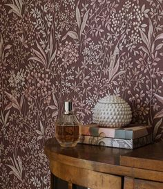 A classic pattern from our archives, Nocturne features a tight floral pattern, hand-painted and presented in both light and dark shades. Timeless charm with a contemporary twist, perfectly complimenting the modern, trend-conscious home. Floral wallpaper a Swedish Wallpaper, Scandinavian Wallpaper, Pink Wallpaper, Cool Wallpaper, Pattern Wallpaper, 4 Image, Thing 1, Interior Decorating, Interior Design