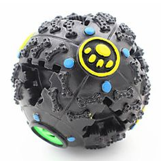 Cat Toy Dog Toy Pet Toys Ball Chew Toy Squeak / Squeaking Food Dispenser Black Rubber
