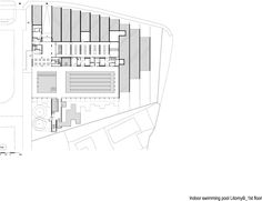 Image 17 of 18 from gallery of Indoor Swimming Pool in Litomyšl / Architekti DRNH. First Floor Plan