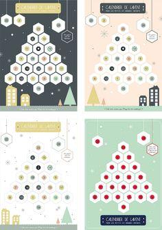 DIY / Advent calendar … Let's do it ! Diy Advent Calendar, Countdown Calendar, Advent Calendars, Noel Christmas, Christmas Cards, Christmas Stuff, Print Calendar, Calendar Printing, Free Christmas Printables