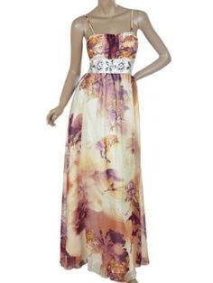 Ever Pretty Floral Printed Rhinestone Tropical Long Feminine Evening Dresses 09300
