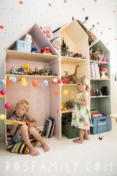 Ett hemma hos reportage om ett barnrum som har allt! #smålandsvillan #barnrum #inredning #inspiration #DIY #barnvänligt #barnsmart #barnsmartavillan