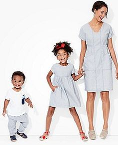 family matching outfits: ticking stripes