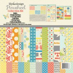 """New!  Pinwheel Collection Kit - Lily Bee 12"""" x 12"""" I want this!!"""