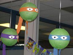 Paper lanterns at a Teenage Mutant Ninja Turtle #tmnt #party