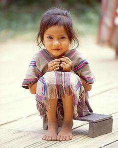 source: Little girl, nord de la Thaïlande par Jim Zuckerman