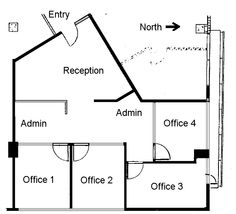 1000 images about offices on pinterest small office for Typical office floor plan