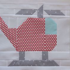 Helicopter quilt block