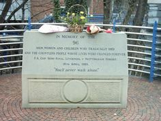 The memorial at Hillsborough Stadium in Sheffield
