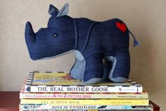 This website creates stuffed animals out of repurposed vintage denim & other materials. #kids #eco #toys