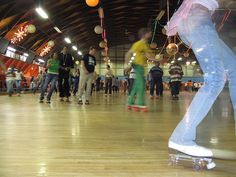 Roller Rinks.. Learning to skate backwards was SOOO Important!!!