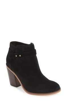 Free shipping and returns on Sole Society 'Lyriq' Bootie(Women) at Nordstrom.com. A sculptural block heel grounds a casual-chicbootiemade from rich suede and detailed with a slim push-stud ankle strap.