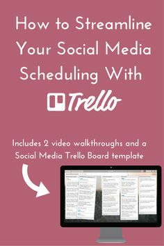 Scheduling posts for social media can be time consuming, especially for a high-volume platform like Twitter. If you're ready to streamline your social media scheduling by using a system that actually works, this is for you. Click through to check out the two Trello walkthrough videos that will help you learn about this awesome app and show you how to use Trello for your social media. You'll also get a social media template board in Trello.