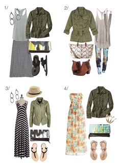 8 ways to wear a military jacket via megan auman // click for outfit details