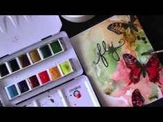 Watercoloring stamped images - YouTube
