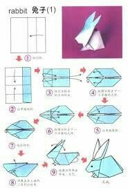 origami hase anleitung osterdeko ideen The Effective Pictures We Offer You About DIY origami bunny A Bunny Origami, Instruções Origami, Origami Star Box, Origami Folding, Paper Crafts Origami, Paper Folding, Origami Flowers, Origami Hearts, Dollar Origami