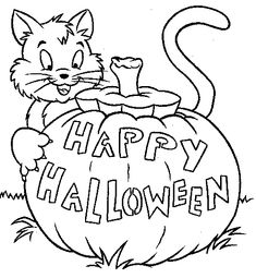 Happy Halloween Pictures To Print And Color Beautiful Coloring Pages For Kids