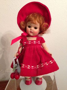 """1953 VOGUE STRUNG GINNY DOLL """"GINGER"""" #64 OUTFIT #Vogue #DollswithClothingAccessories"""