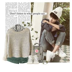 """""""Hakyeon: don't listen to what people say"""" by yxing ❤ liked on Polyvore featuring Fjällräven, Converse, kpop, vixx and hakyeon"""