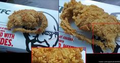 Thousands of people are showing support for a guy who claims KFC fed him a rubbery deep-fried rat and crab