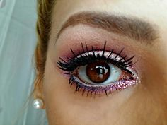 pink sparkle makeup