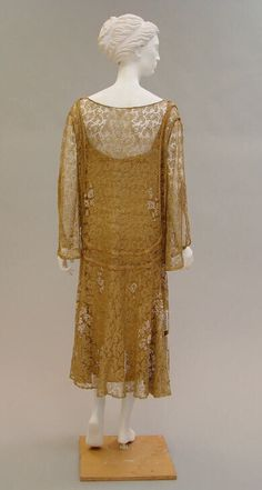 Metallic Lace Evening Dress with Faux Pearl Beading, ca. 1925, Paul Poiret - The Met - Back 3