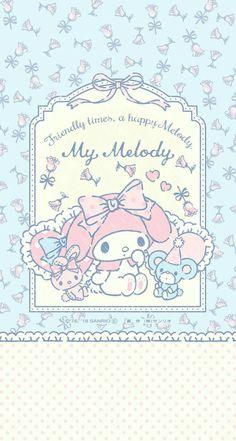 ♥ Be Positive ♥ My Melody Wallpaper, Sanrio Wallpaper, Cute Pastel Wallpaper, Hello Kitty Wallpaper, Kawaii Wallpaper, Wallpaper Iphone Cute, Wallpaper Stickers, Hello Kitty Art, Hello Kitty My Melody