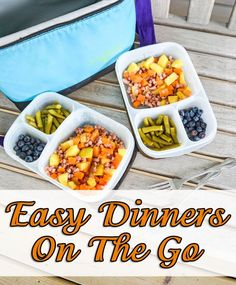 Easy Dinners To Go with Easy Lunchboxes - Ideas for meals away from home @easylunchboxes