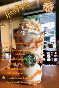 recipes homebrew all grain Butterbeer Recipe, Frappuccino Recipe, Butterbeer Frappuccino, Frappe, Bebidas Do Starbucks, Starbucks Secret Menu Drinks, Beer Recipes, Coffee Recipes, Homebrew Recipes
