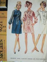 McCalls 9221 Vintage 60s Unused Womens 16 Dress Pattern