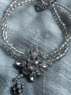 Vintage Rhinestone And Glass Beads by AtticAntiquesVintage on Etsy, $18.00