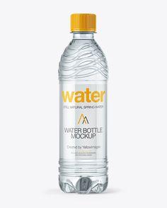 PET Water Bottle Mockup (Preview)