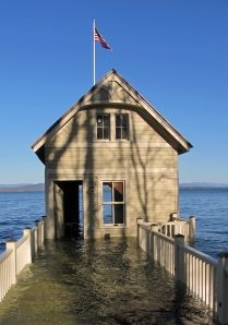 Rosslyn boathouse underwater for almost two months during spring/summer 2011 flooding. Essex on Lake Champlain. More at http:rosslynredux.com