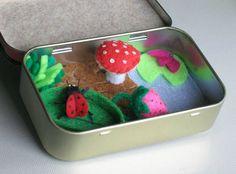 Ladybug felt plush altoid tin play set with by wishwithme on Etsy