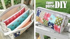 DIY TRIPLE ZIPPER POUCH BAG CUY & SEW // Popular Design Purse Bag Summer 2019 - YouTube
