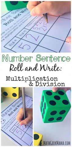 This simple activity helps kids see the inverse relationship between multiplication and division, practice writing equations and learn multiplication and division fact families! Multiplication & Division for Kids Division Math Games, Multiplication And Division, Teaching Division, Division Strategies, Easy Math Games, Fun Math, Abc Games, Multiplication Activities, Math Activities