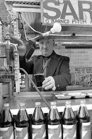 East street market - George Barnes who had a stall selling sarsaparilla.