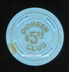 #LasVegasCasinoChip of the Day is a $5 Pioneer 2nd issue you can get here https://www.all-chips.com/ChipDetail.php?ChipID=18499 #CasinoChip #LasVegas