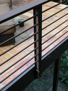 Ecomomaki - StoneDeks The Effective Pictures We Offer You About tiny balcony A quality picture can tell you many things. You can find the most beautiful pictures that can be presented to you about bal Metal Deck Railing, Diy Stair Railing, Modern Railing, Patio Railing, Balcony Railing Design, Steel Railing, Roof Deck, Veranda Railing, Railing Ideas