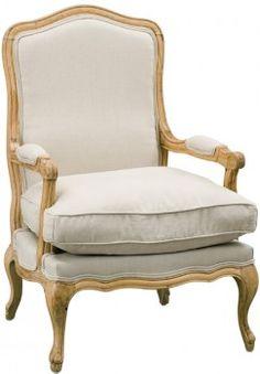 Antoinette Chair - Natural Linen