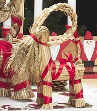 "10"" Julbock/ Christmas Straw Goat (thin) | Hemslojd"